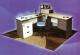 Meja Kantor Daiko MDP 120 abu-abu